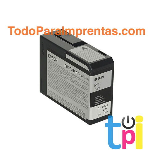 Tinta Epson StylusPro 3800/3880 Negro Photo 80 ml.