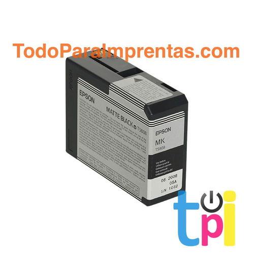 Tinta Epson StylusPro 3800/3880 Negro Mate 80 ml.