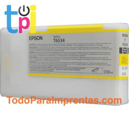 Tinta Epson 4900 Amarillo 200 ml.