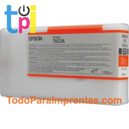 Tinta Epson Naranja 200 ml.