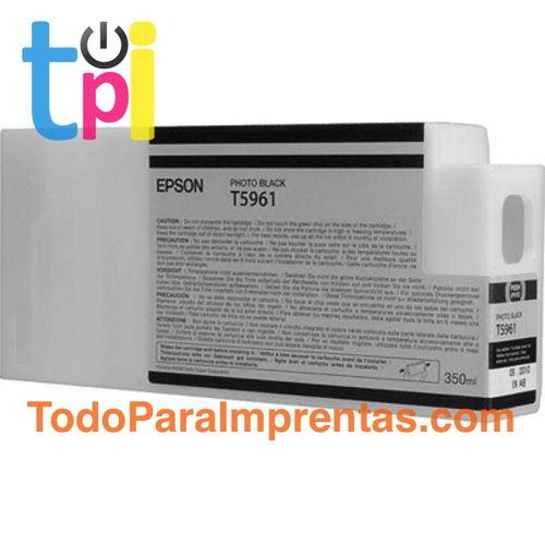 Tinta Epson C13T596100 Negro Foto 350 ml.