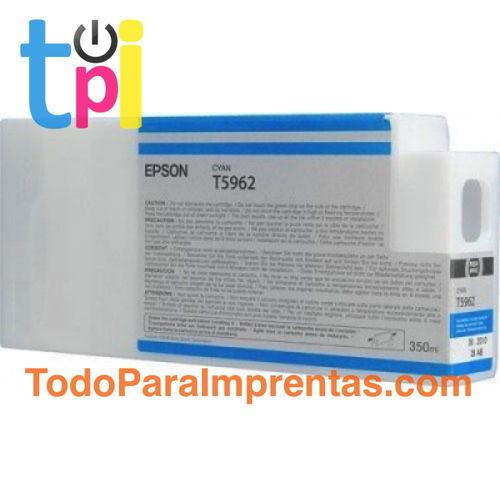 Tinta Epson C13T596200 Cian 350 ml.