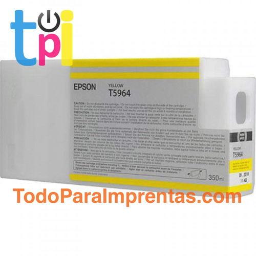 Tinta Epson C13T596400 Amarillo 350 ml.