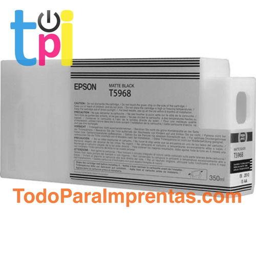 Tinta Epson C13T596800 Negro Mate 350 ml.