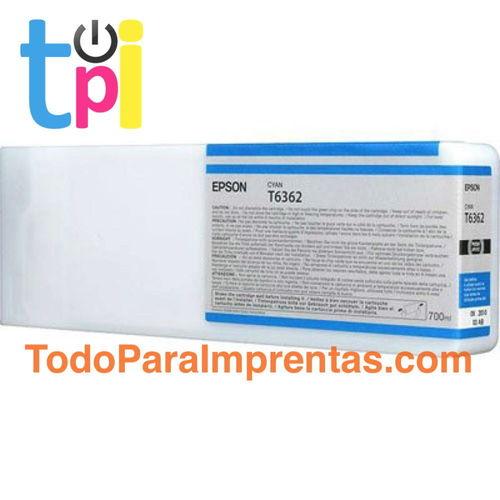 Tinta Epson C13T636200 Cian 700 ml.