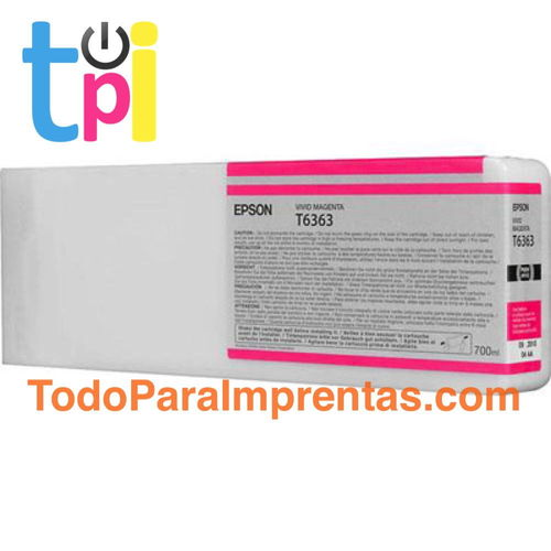 Tinta Epson C13T636300 Magenta 700 ml.