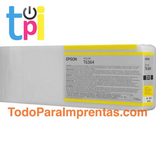 Tinta Epson C13T636400 Amarillo 700 ml.