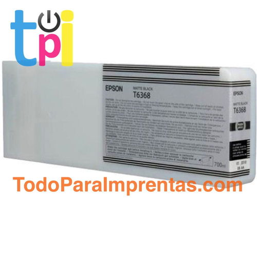 Tinta Epson C13T636800 Negro Mate 700 ml.