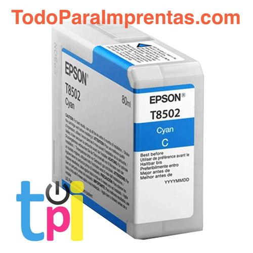 Tinta Epson P800 Cian 80 ml.