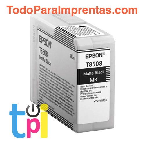 Tinta Epson P800 Negro Mate 80 ml.