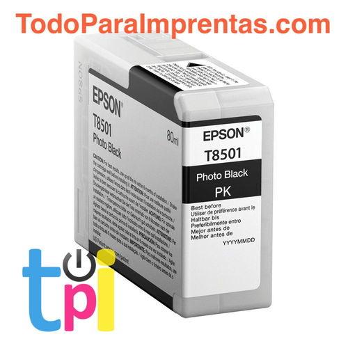 Tinta Epson P800 Negro Foto 80 ml.