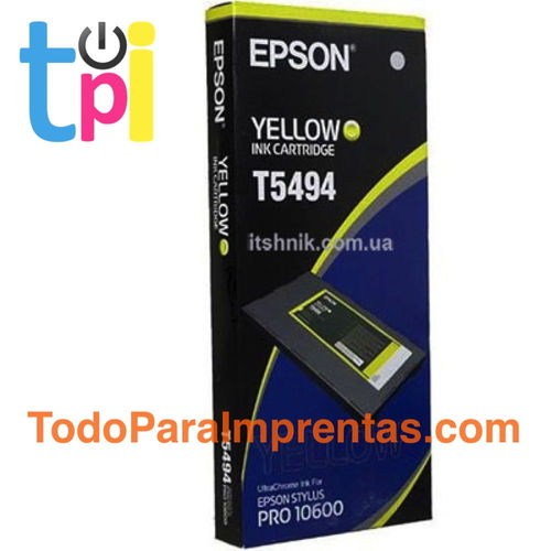 Tinta Epson 10600 Amarillo 500 ml.