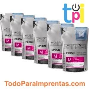 Tinta Magenta Epson SC-F - 6 bolsas de 1l