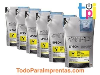 Tinta Amarillo Epson SC-F - 6 bolsas de 1l