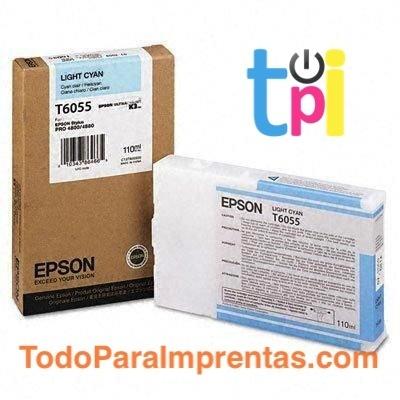 Tinta Epson StylusPro 4800/4880 Cian Claro 110 ml.