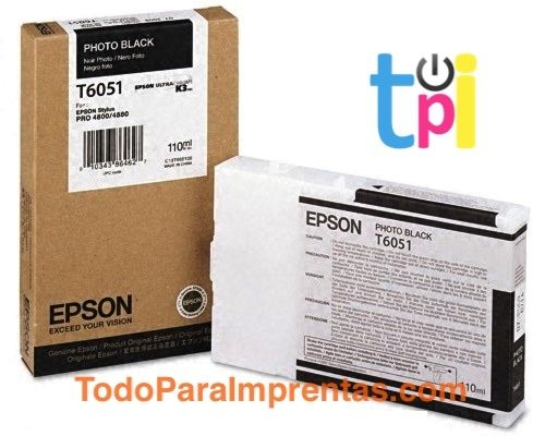 Tinta Epson StylusPro 4800/4880 Negro Foto 110 ml.