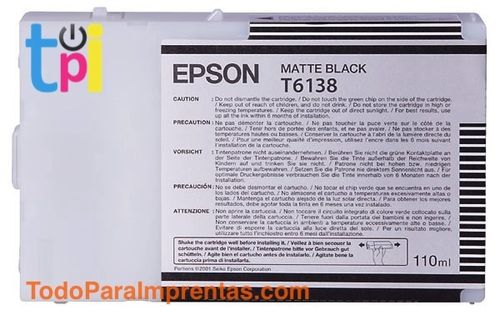 Tinta Epson SP 4400/4450 Negro 110 ml.