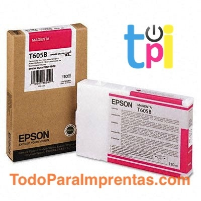 Tinta Epson StylusPro 4800 Magenta 110 ml.