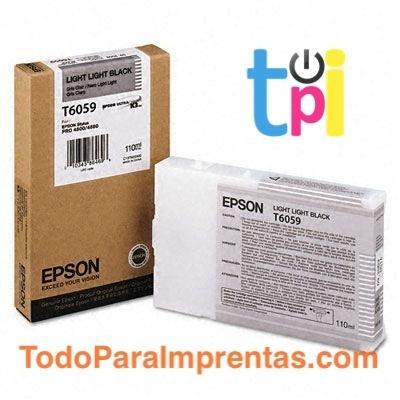 Tinta Epson StylusPro 4800/4880 Gris Claro 110 ml.