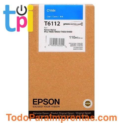 Tinta Epson SP 7400/7450/9400/9450 Cian 110 ml.