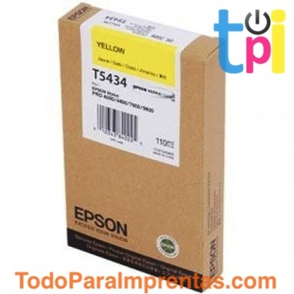 Tinta Epson SP 4000/7600/9600 Amarillo 110 ml.