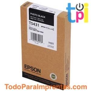 Tinta Epson SP 4000/7600/9600 Negro Foto 110 ml.