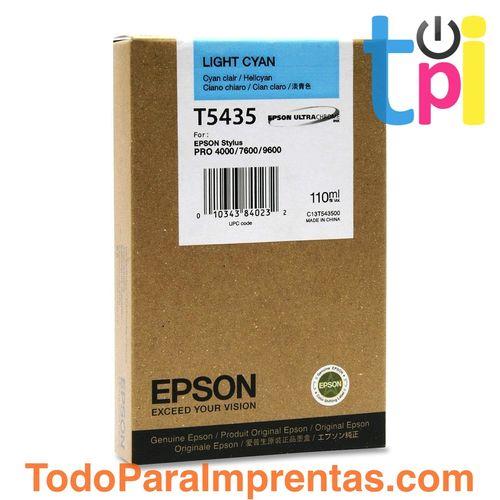 Tinta Epson SP 4000/7600/9600 Cian Claro 110 ml.