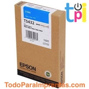 Tinta Epson SP 4000/7600/9600 Cian 110 ml.