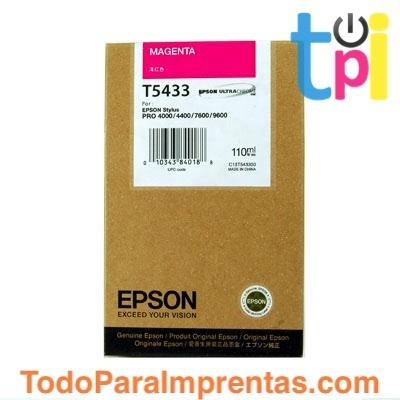 Tinta Epson SP 4000/7600/9600 Magenta 110 ml.