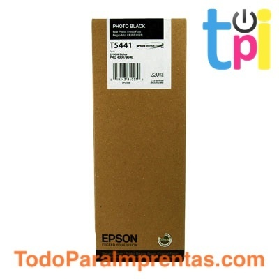 Tinta Epson SP 4000/7600/9600 Negro Foto 220 ml.