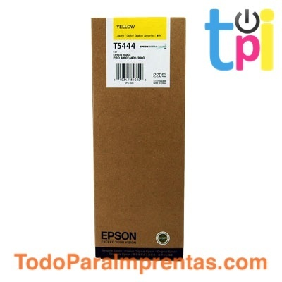 Tinta Epson SP 4000/7600/9600 Amarillo 220 ml.