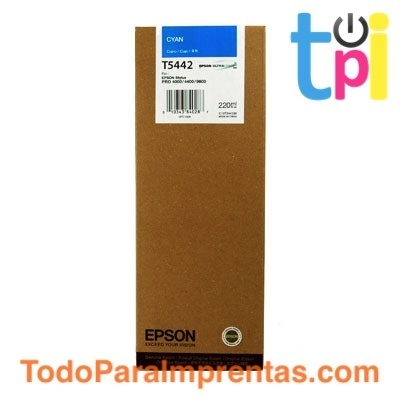 Tinta Epson SP 4000/7600/9600 Cian 220 ml.