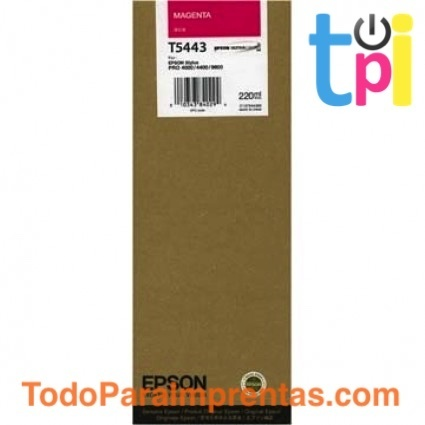 Tinta Epson SP 4000/7600/9600 Magenta 220 ml.