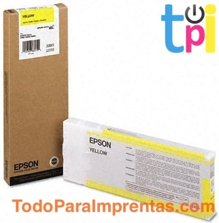 Tinta Epson SP 4400/4450 Amarillo 220 ml.