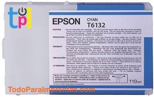 Tinta Epson SP 4400/4450 Cian 110 ml.