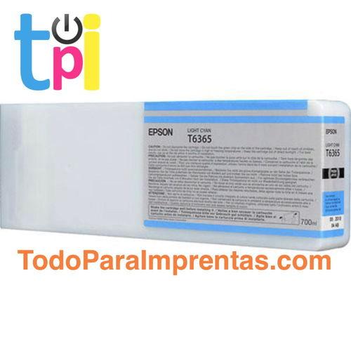 Tinta Epson C13T636500 Cian Claro 700 ml.
