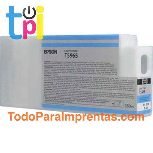 Tinta Epson C13T596500 Cian Claro 350 ml.