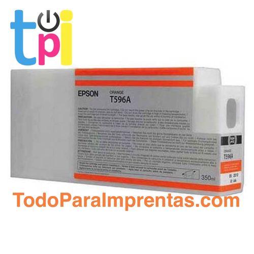 Tinta Epson C13T596A00 Naranja 350 ml.