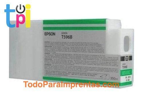 Tinta Epson C13T596B00 Verde 350 ml.