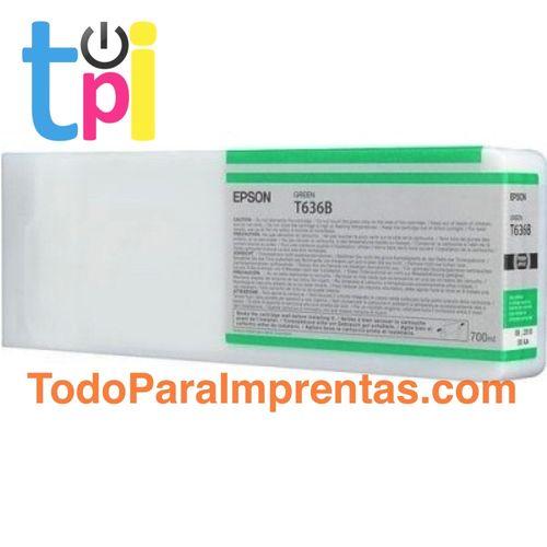 Tinta Epson C13T636B00 Verde 700 ml.