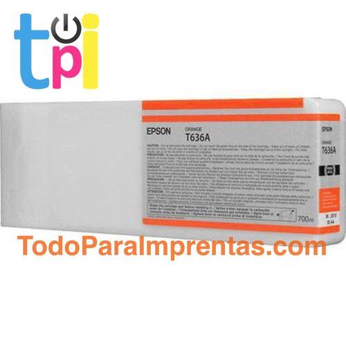 Tinta Epson C13T636A00 Naranja 700 ml.