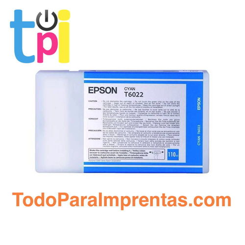 Tinta Epson C13T602200 Cian 110 ml.