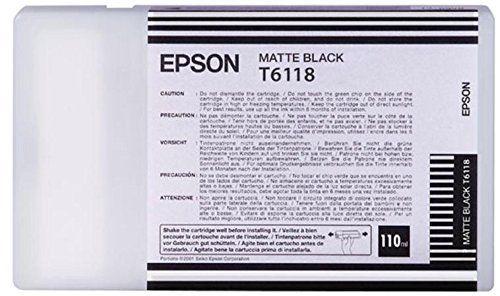 Tinta Epson C13T611800 Negro Mate 110 ml.
