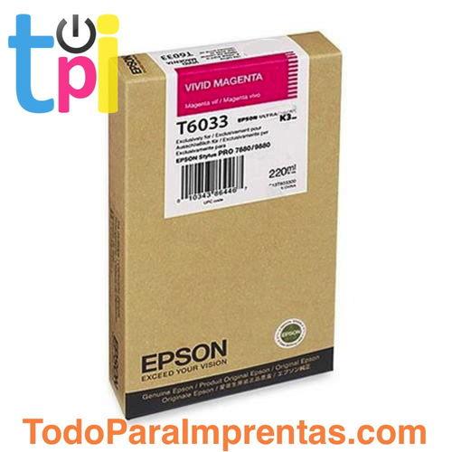 Tinta Epson C13T603300 Magenta 220 ml.