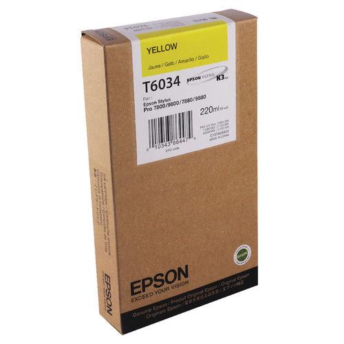 Tinta Epson C13T603400 Amarillo 220 ml.
