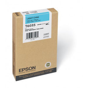 Tinta Epson C13T603500 Cian Claro 220 ml.