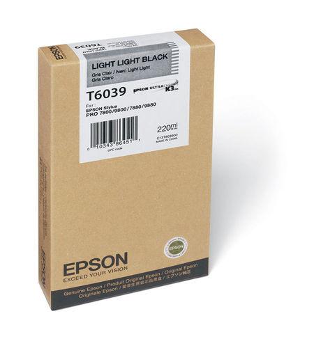 Tinta Epson C13T603900 Gris Claro 220 ml.