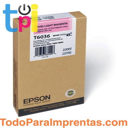 Tinta Epson C13T603600 Magenta Claro 220 ml.