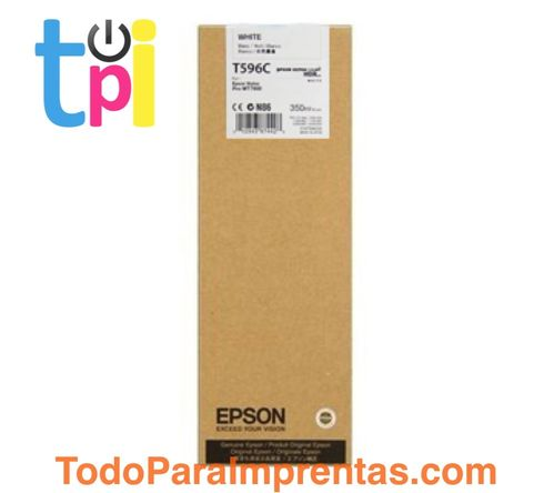Tinta Epson C13T596C00 Blanco 350 ml.