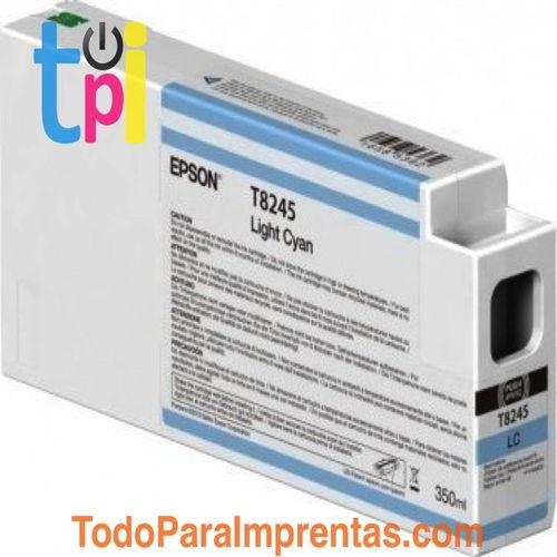 Tinta Epson C13T824500 Cian Claro 350 ml.
